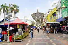 KUALA LUMPUR, MALAYSIA - JANUARY 10, 2017 - Kasturi Walk alongside Central Market,Kuala Lumpur Royalty Free Stock Image