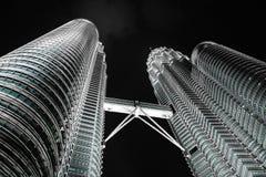KUALA LUMPUR, MALAYSIA - JANUARY 14: Nightscape of Petronas Twin Towers Royalty Free Stock Photo