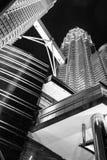KUALA LUMPUR, MALAYSIA - JANUARY 14: Nightscape of Petronas Twin Towers Stock Photography
