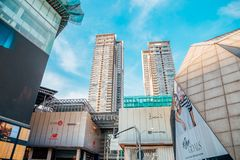 Pavilion KL famous shopping mall in Kuala Lumpur, Malaysia. Kuala Lumpur, Malaysia - January 7, 2018 : Pavilion KL famous shopping mall Stock Photo