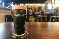 Kuala Lumpur, Malaysia, July 1, 2017: Guinness is an Irish dry. Stout that originated in the brewery of Arthur Guinness at St. James`s Gate brewery, Dublin royalty free stock images