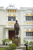 Kuala Lumpur, Malaysia - July 18, 2018 : Vivekananda Ashram building, with the bronze statue of Swami Vivekananda, one of the off. Icial heritage iconic status royalty free stock photo