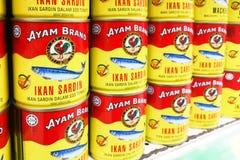 KUALA LUMPUR Malaysia, Juni 25, 2017: Ayam Brand eller Ayam är ett p royaltyfri fotografi
