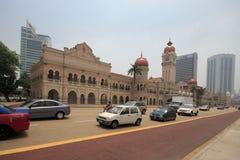 KUALA LUMPUR, MALAYSIA - MARCH 4 Thick haze in Dataran Merdeka. Royalty Free Stock Images