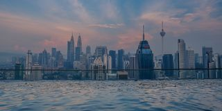 Sunset in Kuala Lumpur royalty free stock photography