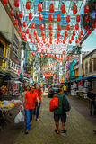 Kuala Lumpur, Malaysia - March 9, 2017: Petaling street market, in the heart of the Chinatown of the city is a popular Stock Photography