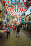 Kuala Lumpur, Malaysia - March 9, 2017: Petaling street market, in the heart of the Chinatown of the city is a popular Royalty Free Stock Images