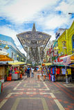 Kuala Lumpur, Malaysia - March 9, 2017: Petaling street market, in the heart of the Chinatown of the city is a popular Royalty Free Stock Photo