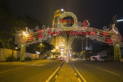 KUALA LUMPUR, MALAYSIA - MARCH 11 2014. Petronas. Twin Towers at night on March 11, 2014 Royalty Free Stock Images