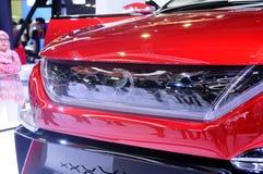 Selected focused on Perodua car and commercial brand emblem logos. KUALA LUMPUR, MALAYSIA -MARCH 23, 2018: Selected focused on Perodua car and commercial brand royalty free stock photos