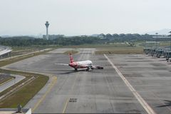 Kuala Lumpur, Malaysia - March 24th 2018 : Kuala Lumpur international airport terminal royalty free stock photos