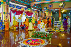 Kuala Lumpur, Malaysia - March 9, 2017: Unidentified people in a traditional Hindu wedding celebration. Hinduism is the. Fourth largest religion in Malaysia Royalty Free Stock Photography