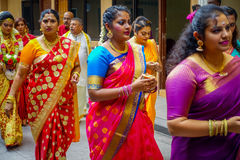 Kuala Lumpur, Malaysia - March 9, 2017: Unidentified people in a traditional Hindu wedding celebration. Hinduism is the Royalty Free Stock Images