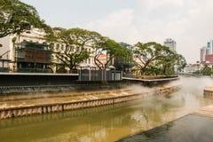 Kuala Lumpur Malaysia - mars 5, 2019: En del av en ny utveckling som äger rum på Masjid Jamek Kuala Lumpur h?rlig sikt arkivbild