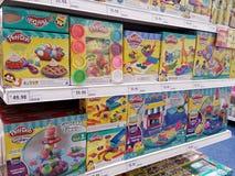 KUALA LUMPUR, MALAYSIA - MAY 20, 2017 : Play Doh at supermarket aisle. stock image