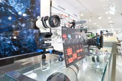 Suria KLCC. KUALA LUMPUR, MALAYSIA - MAY 09, 2016: Sony Store in Suria KLCC. Suria KLCC is a shopping mall is located in the Kuala Lumpur City Centre district Royalty Free Stock Photography