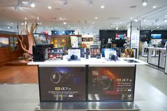 Suria KLCC. KUALA LUMPUR, MALAYSIA - MAY 09, 2016: Sony Store in Suria KLCC. Suria KLCC is a shopping mall is located in the Kuala Lumpur City Centre district stock photo