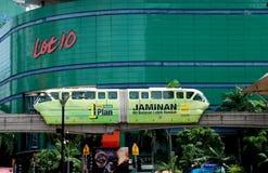 kuala Lumpur Malaysia monorail pociąg zdjęcia stock