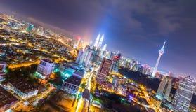 Kuala Lumpur, malaysia. Kuala lumpur in Malaysia at night stock image