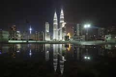 Kuala Lumpur, Malaysia at night Royalty Free Stock Photo