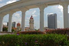 KUALA LUMPUR, MALAYSIA - November 16. 2016: Clock tower of Sultan Abdul Samad building near Merdeka Square Stock Images