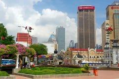 KUALA LUMPUR, MALAYSIA - November 16. 2016: Clock tower of Sultan Abdul Samad building near Merdeka Square Royalty Free Stock Images