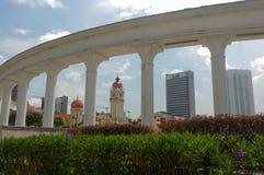 KUALA LUMPUR, MALAYSIA - November 16. 2016: Clock tower of Sultan Abdul Samad building near Merdeka Square under the Mono race Royalty Free Stock Image