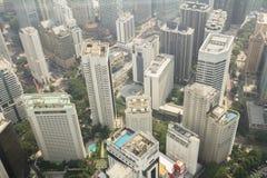 Kuala Lumpur MALAYSIA - NOVEMBER 10: flyg- sikt av Kuala Lumpu Arkivfoton