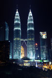 Kuala Lumpur, Malaysia - NOVEMBER 11: Petronas Twin Towers at night on November 11, 2012. Stock Photo