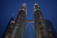 Kuala Lumpur, Malaysia - November 3, 2017:  Petronas Twin Towers Sky Bridge Royalty Free Stock Image