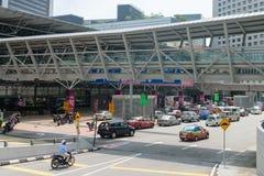 KL Sentral building is main transportation hub for Kuala Lumpur. KUALA LUMPUR, MALAYSIA - 31 OCT 2014: KL Sentral building is main transportation hub for Kuala Stock Image