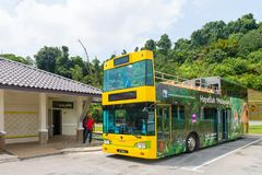 Tourist city tour hop-on hop-off bus in Kuala Lumpur Royalty Free Stock Images