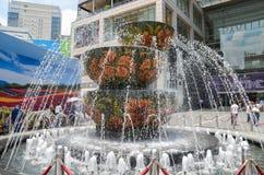 Kuala Lumpur, Malaysia - October 4, 2013: Pavilion crystal fount Stock Image