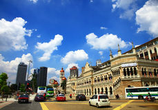Kuala Lumpur. MALAYSIA - 06 OCTOBER, 2013: Road in front of the Sultan Abdul Samad building in Royalty Free Stock Images