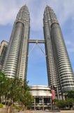 kuala Lumpur Malaysia Petronas góruje bliźniaka Fotografia Stock