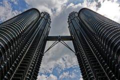 Kuala Lumpur malaysia petronas torn kopplar samman arkivbilder