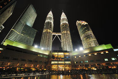 Kuala Lumpur, Malaysia. Petronas Twin Towers. Stock Photos