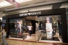 KUALA LUMPUR, MALAYSIA - SEP 27: EMPORIO ARMANI shop in Suria Sh Stock Photos