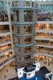 KUALA LUMPUR, MALAYSIA - SEP 27: Glass elevator in Suria Shoppin. G Mall on Septermber 27, 2013 in Kuala Lumpur, Malaysia. Suria KLCC is the luxury shopping Royalty Free Stock Photos