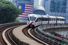 Malaysia LRT train royalty free stock photos