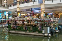 The Mines Cruise is a boat ride on two large lakes next to The Mines shopping mall in Seri Kembangan. Kuala Lumpur,Malaysia - September 11,2018 : The Mines royalty free stock images