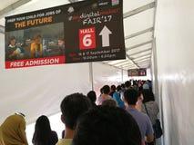 Kuala Lumpur, Malaysia - 16. September 2017 mydigitalmaker ist ein gemeinsames öffentlich-privates Ereignis Lizenzfreie Stockbilder