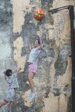 Penang Street wall Art royalty free stock photography