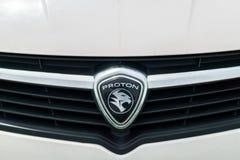 Proton company logo emblem on car. Royalty Free Stock Photos
