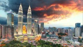 Kuala Lumpur, Malaysia skyline - Time lapse. stock video