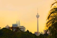 Kuala Lumpur malaysia solnedgång royaltyfri foto