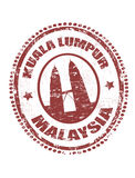 Kuala Lumpur malaysia stämpel Arkivbilder