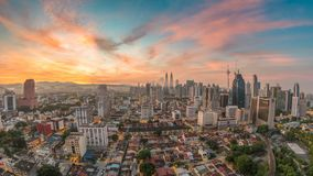 Kuala Lumpur Malaysia Time Lapse almacen de metraje de vídeo