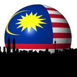 Kuala Lumpur Malaysian flag sphere Stock Images