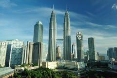 Kuala Lumpur, Maleisië. De TweelingTorens van Petronas. stock afbeeldingen